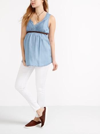 Insider - Super Skinny White Maternity Jean.White.XXS