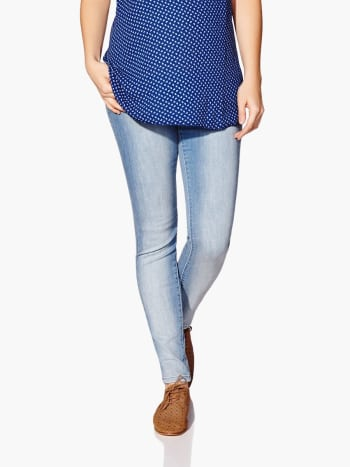 Skinny Light Wash Maternity Jean