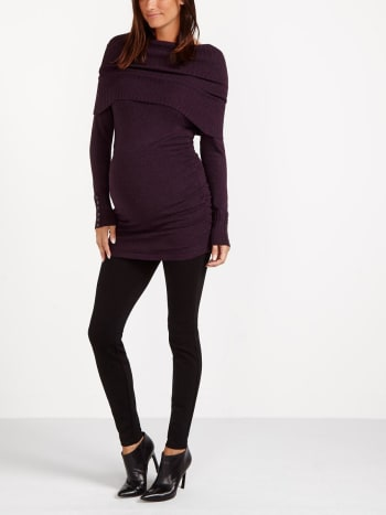 Cowl Neck Maternity Knit Top