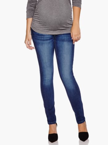 DL - Skinny Florence Maternity Jean with Sandblast