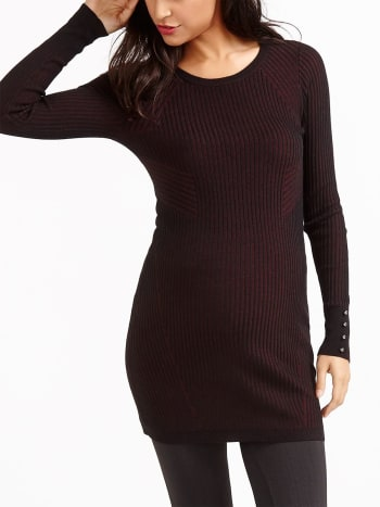 Ribbed Knit Maternity Sweater Tunic