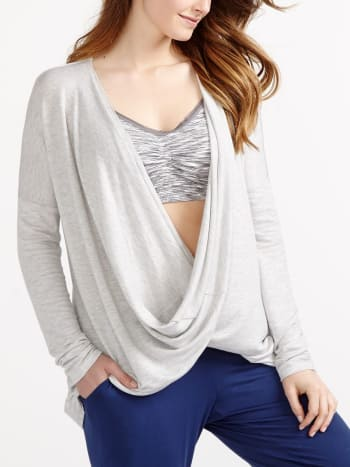 Long Sleeve Crossover Maternity Pyjama Top