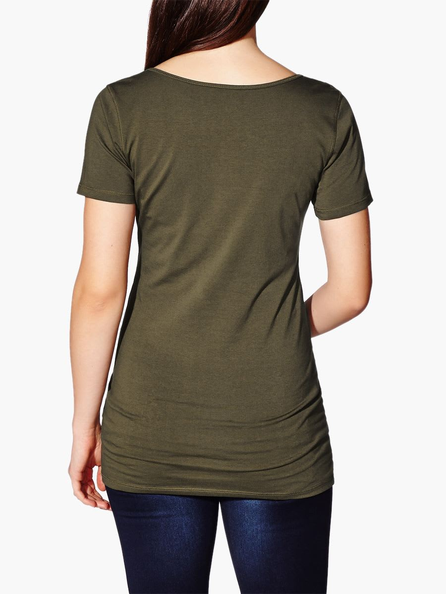 Split Neck Maternity T-Shirt