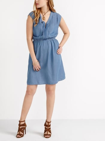 Sleeveless Tencel Nursing Dress