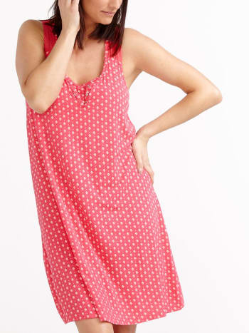 Lace Strap Printed Nursing Nightgown