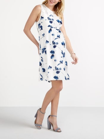 Stork & Babe - Sleeveless Printed Maternity Dress