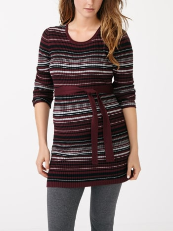 Striped Maternity Knit Tunic
