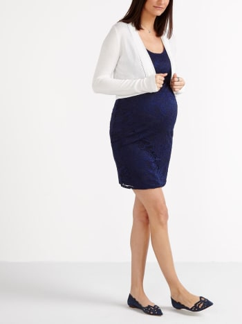 Stork & Babe - Long Sleeve Cropped Maternity Cardigan