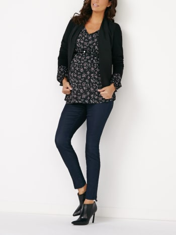 Stork & Babe - Long Sleeve Printed Maternity Blouse