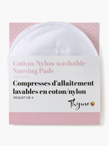 Cotton/Nylon Washable Nursing Pads (Set of 4)