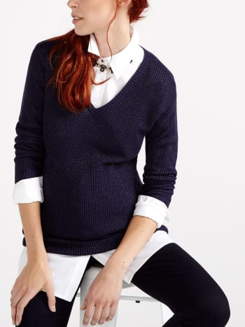 Stork & Babe - Long Sleeve Maternity Sweater