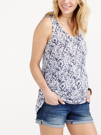 Printed Maternity Tank Top