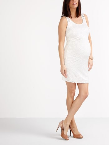 Stork & Babe - Sleeveless Lace Maternity Dress