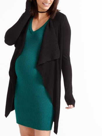 Stork & Babe - Long Sleeve Open Maternity Cardigan