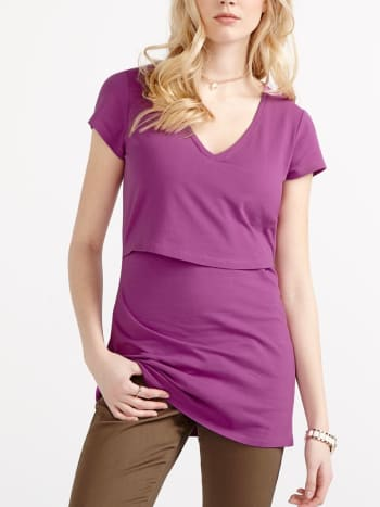 Cap Sleeve Nursing T-Shirt