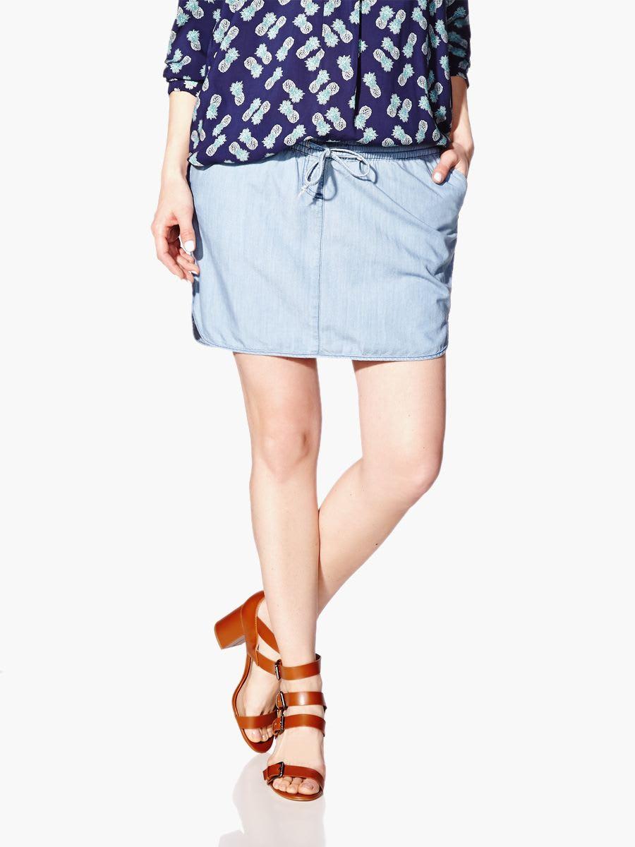 Short Rounded Maternity Skirt