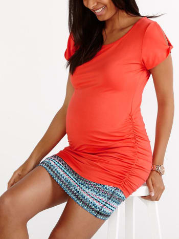 Twisted Sleeve Maternity T-Shirt
