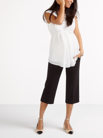 Stork & Babe - Cropped Maternity Wide Leg Pant