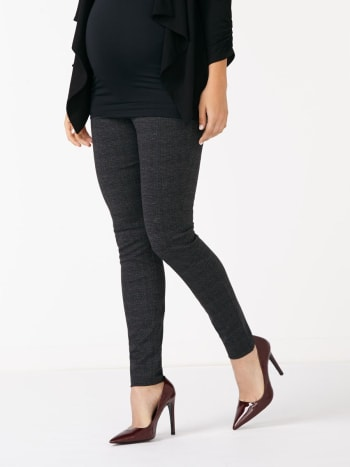 Stork & Babe - Ponte Patterned Maternity Legging