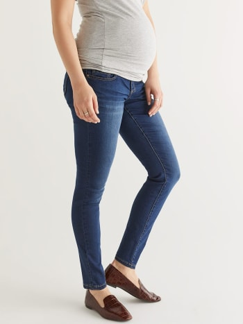 Insider - Tall Dark Wash Super Skinny Maternity Jean