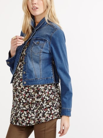 Long Sleeve Maternity Denim Jacket