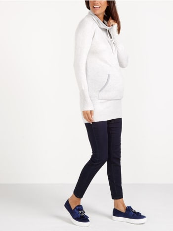 Mock Neck Maternity Tunic
