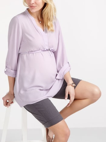 Stork & Babe - Long Sleeve Maternity Blouse