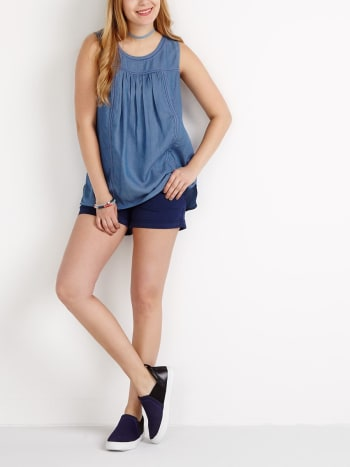 Sleeveless Tencel Nursing Tunic