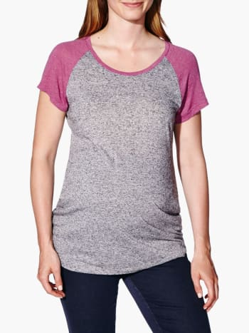 Maternity T-Shirt with Lurex