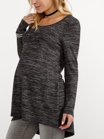Long Sleeve Two-Toned Maternity Tunic