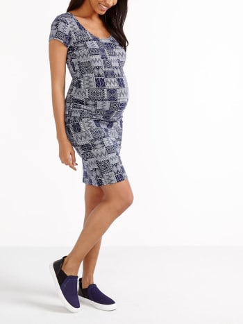 Printed Maternity T-Shirt Dress