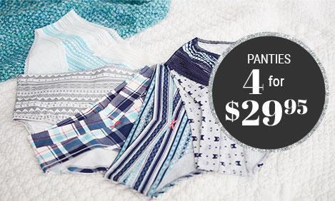 panties 4 for $29,95$