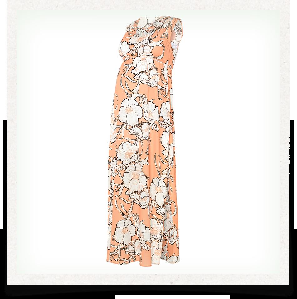 Sleeveless Printed Maternity Maxi Dress 737955