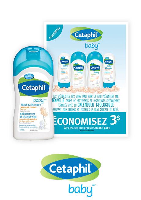 Un échantillon de gel nettoyant et shampooing et un coupon-rabais de 3 $
