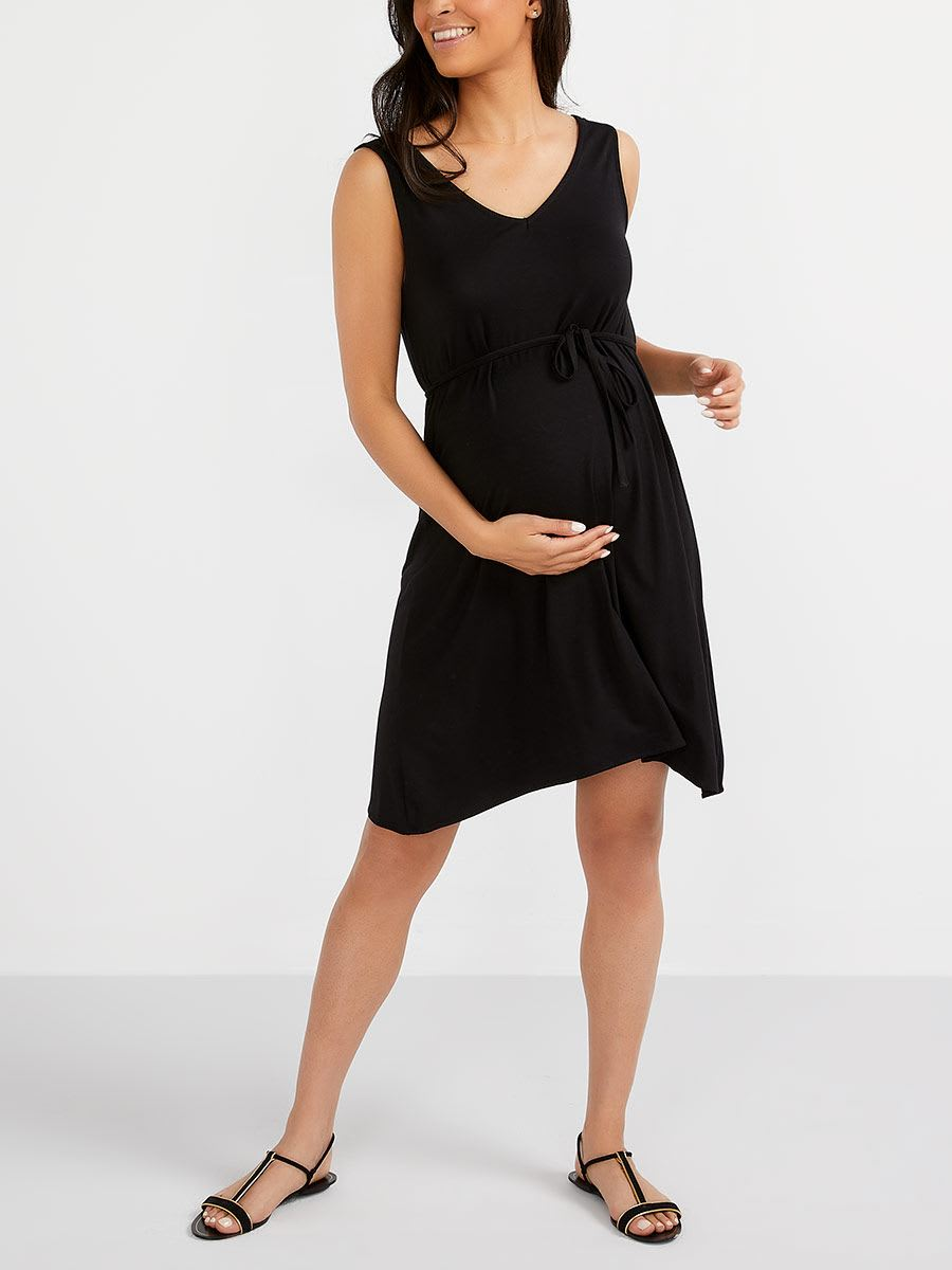 503bf03e2611 Stork   Babe - Maternity Dress with Back Criss-Cross