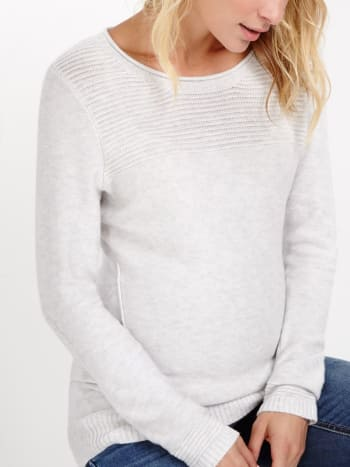 Long Sleeve Ribbed Maternity Sweater