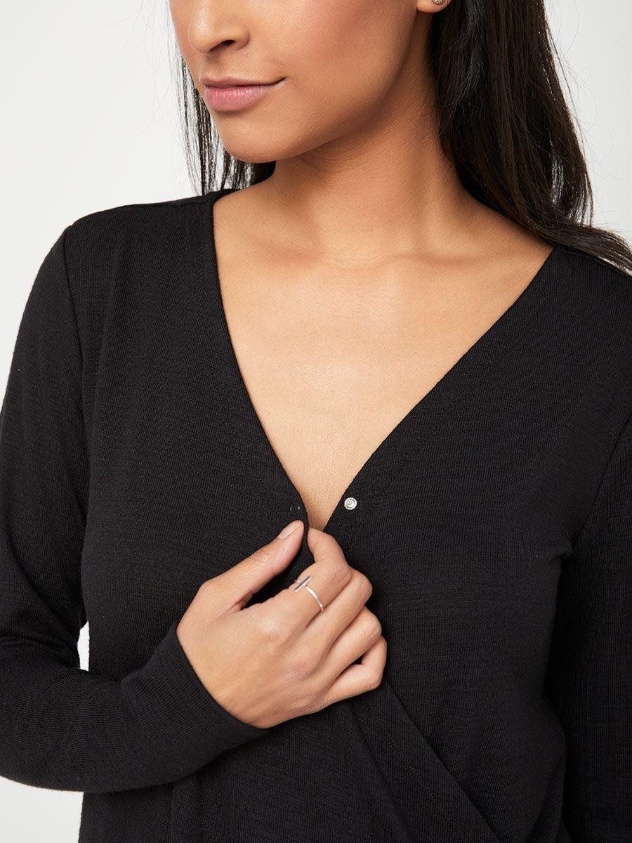 ba71176737868 Long Sleeve Crisscross Nursing Top | Thyme Maternity