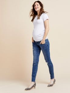 Medium Blue Maternity Skinny Jean