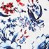 White Blue Red Floral
