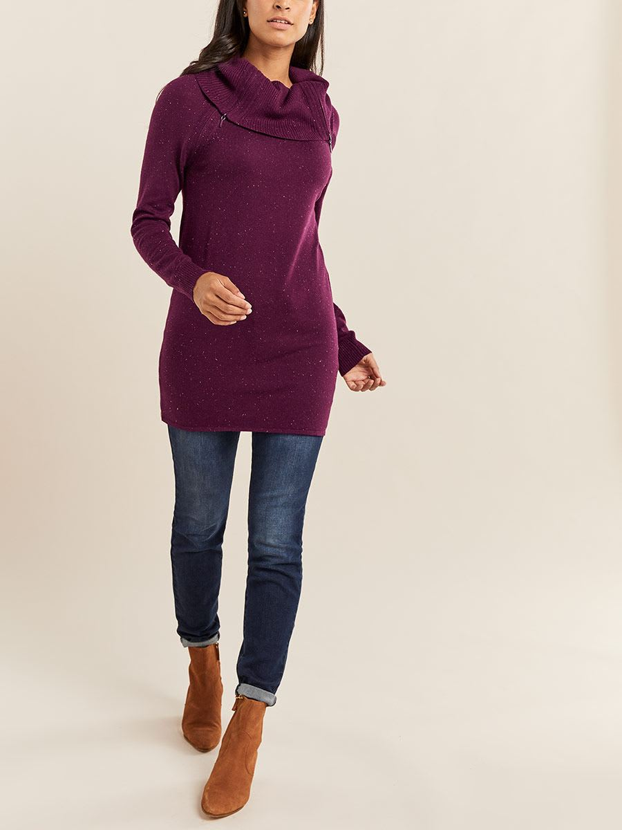Cowl Neck Nursing Tunic