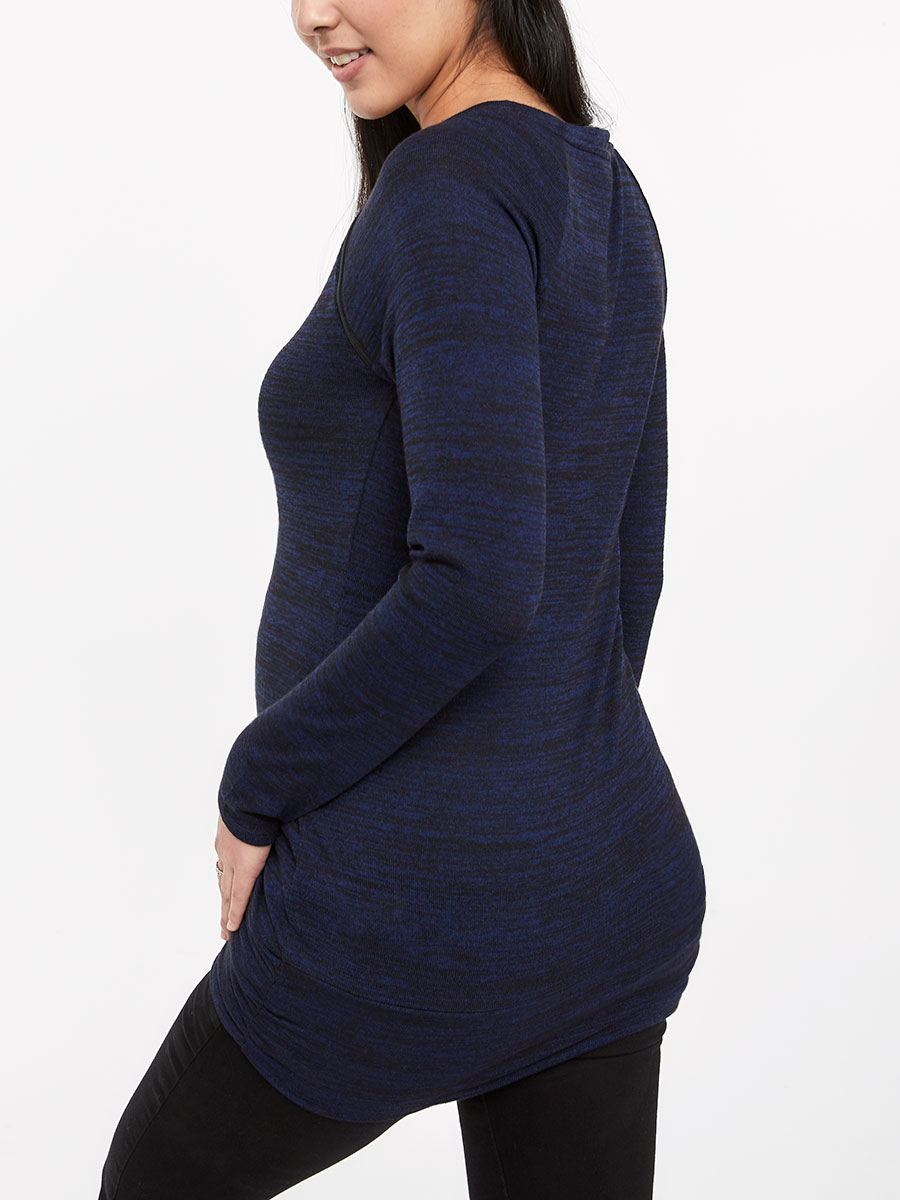 Long Sleeve Nursing Tunic with Zips