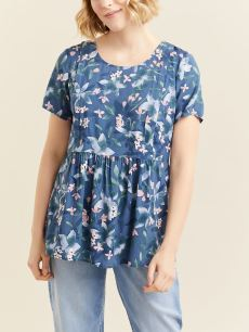 Short Sleeve Nursing & Maternity Blouse