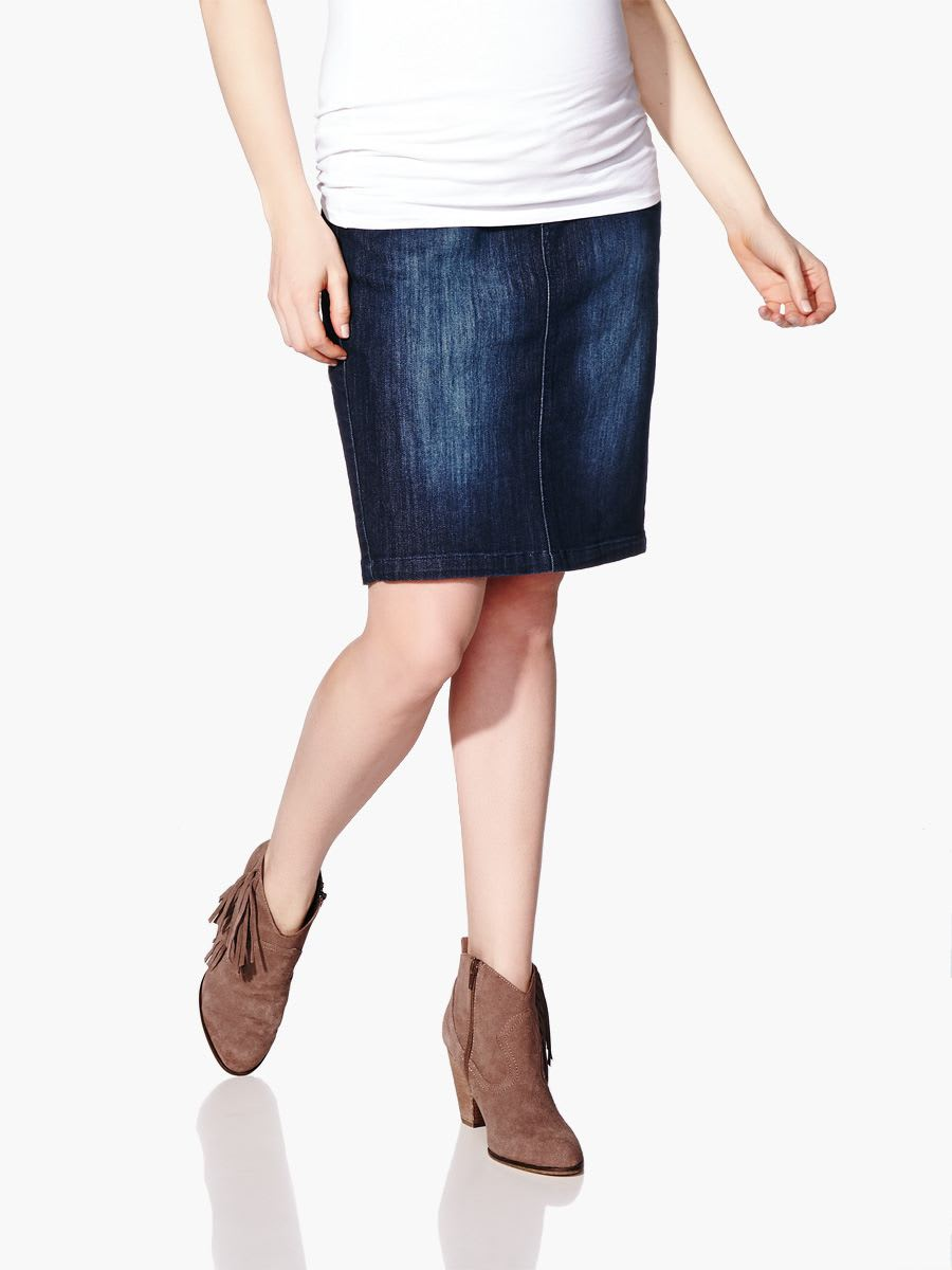 maternity denim skirt dress ala