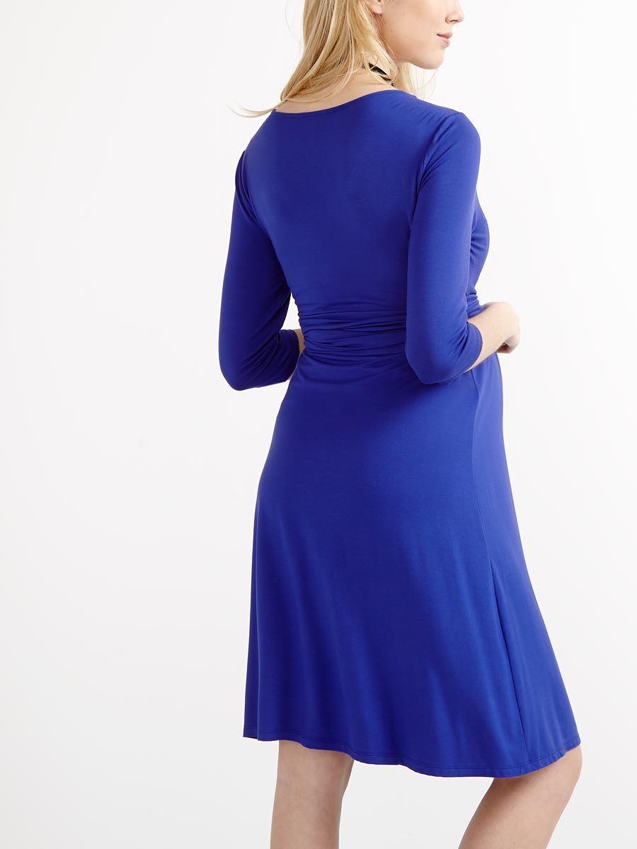 5edff6f016591 3/4 Sleeve Wrap Nursing Dress | Thyme Maternity