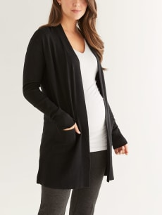 Stork & Babe - Solid Knit Maternity Cardigan
