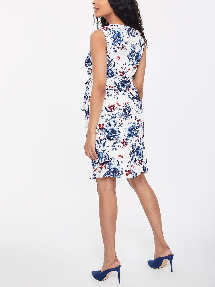 6ddd71b92ba Stork   Babe - Printed Sleeveless Henley Maternity Dress