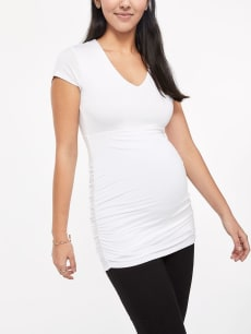 Stork & Babe - Short Sleeve Essential Maternity Top