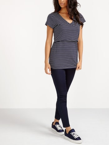 Nursing Kit - Striped Cap Sleeve Nursing T-Shirt