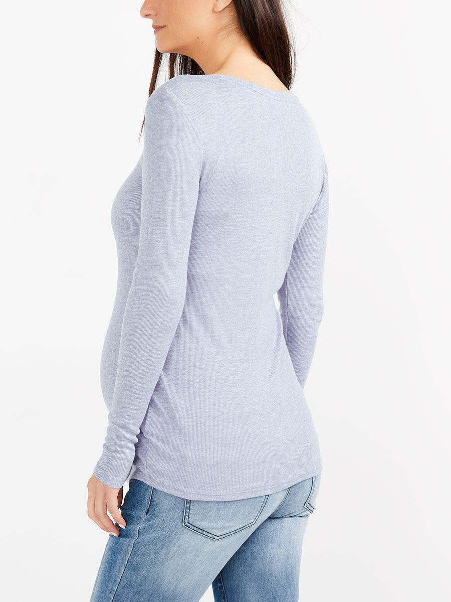 Long Sleeve Knit Maternity Top