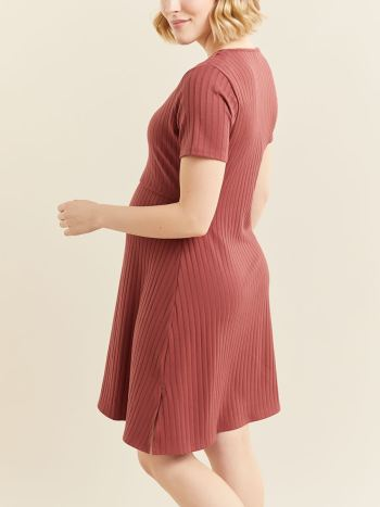 Short Sleeve Nursing & Maternity Dress